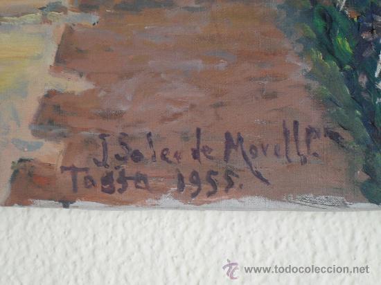 Arte: Oleo sobre lienzo Firmado por J. SOLER DE MORELL. TOSSA DE MAR GIRONA 1955 Md.81x60 Cm. - Foto 2 - 29360283
