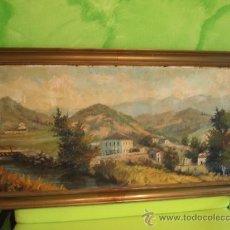 Arte: OLEO SOBRE LIENZO DE LOS MONTES DE PICOS DE EUROPA. FIRMADO POR F. LOPEZ RODRIGUEZ 1915-1920. Lote 29613891