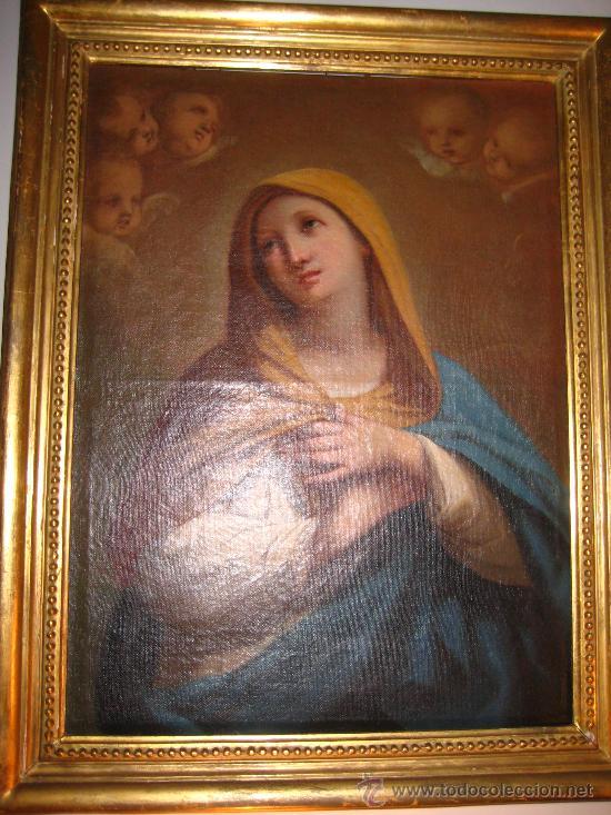 Arte: Preciosa Piedad del s. XVIII en oleo sobre lienzo.circulo de Zacarias Gonzalez Velasquez o de el mis - Foto 6 - 29617930
