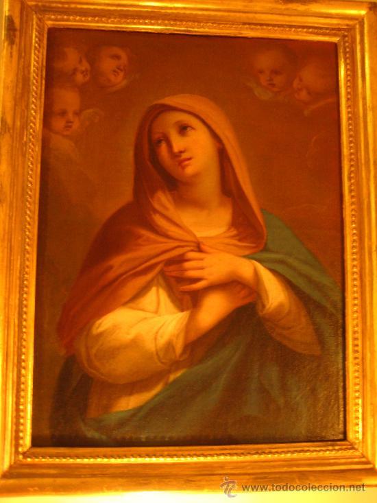 Arte: Preciosa Piedad del s. XVIII en oleo sobre lienzo.circulo de Zacarias Gonzalez Velasquez o de el mis - Foto 7 - 29617930