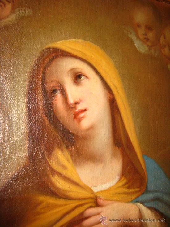 Arte: Preciosa Piedad del s. XVIII en oleo sobre lienzo.circulo de Zacarias Gonzalez Velasquez o de el mis - Foto 9 - 29617930