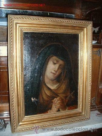 VIRGEN MARIA DOLOROSA FINALES DEL S. XVIII-XIX (Arte - Pintura - Pintura al Óleo Antigua siglo XVIII)