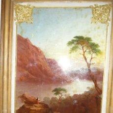 Arte: ÓLEO PINTADO EN CRISTAL, HARPER´S FERRY OF JEFFERSONS ROCK, VIRGINIA. Lote 29657133