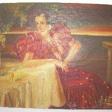 Arte: BONITO OLEO SOBRE TABLA DE ROBLE.. Lote 29660349