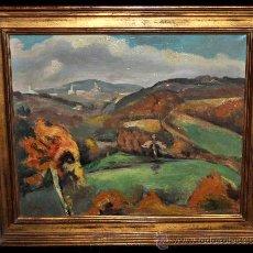 Arte: MANUEL ORTIZ D ZARATE (COMO,ITALIA,1887-LOS ÁNGELES,1946) OLEO LIENZO. PAISAJE. ESTANCIA FRANCESA. Lote 58294187
