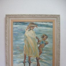 Arte: COPIA DE SOROLLA /// ÓLEO SOBRE LIENZO 73 X 60. SIN MARCO. DOMINGO CORREA.. Lote 29796428