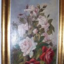 Arte: PINTURA VALENCIANA, OLEO SOBRE LIENZO DE FERNANDO MARTINEZ CHECA (1858-1933). ROSAS.. Lote 29892676