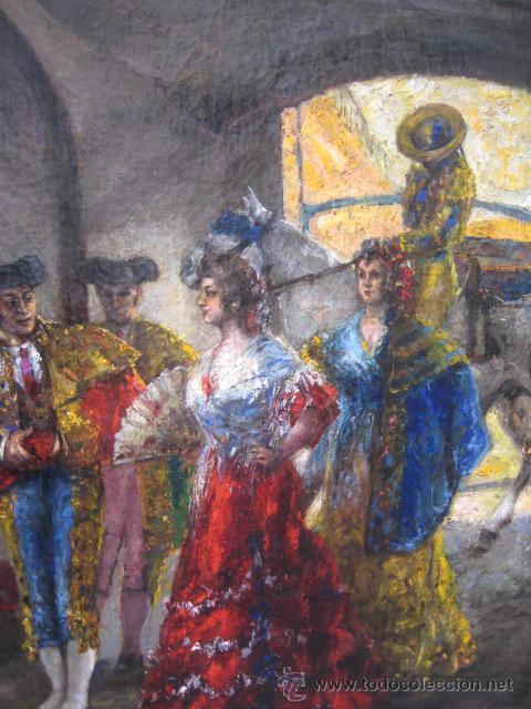 Arte: Tema taurino. Oleo sobre lienzo finales del siglo XIX . Anonimo - Foto 14 - 29270266