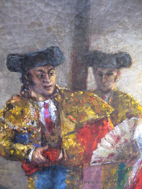 Arte: Tema taurino. Oleo sobre lienzo finales del siglo XIX . Anonimo - Foto 18 - 29270266