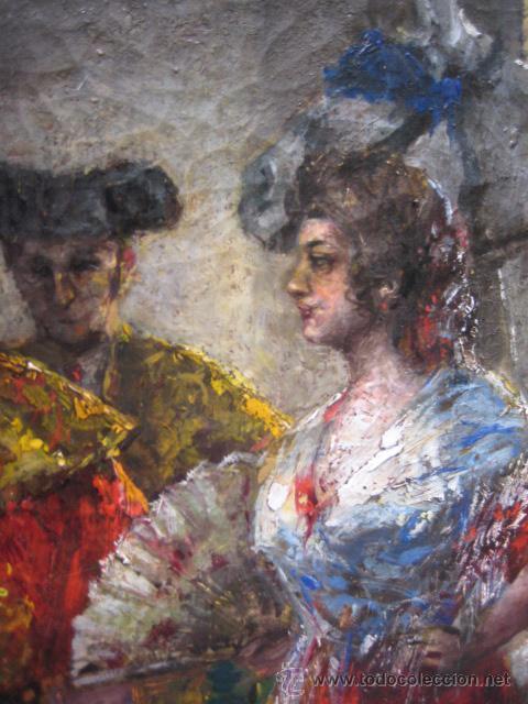 Arte: Tema taurino. Oleo sobre lienzo finales del siglo XIX . Anonimo - Foto 19 - 29270266