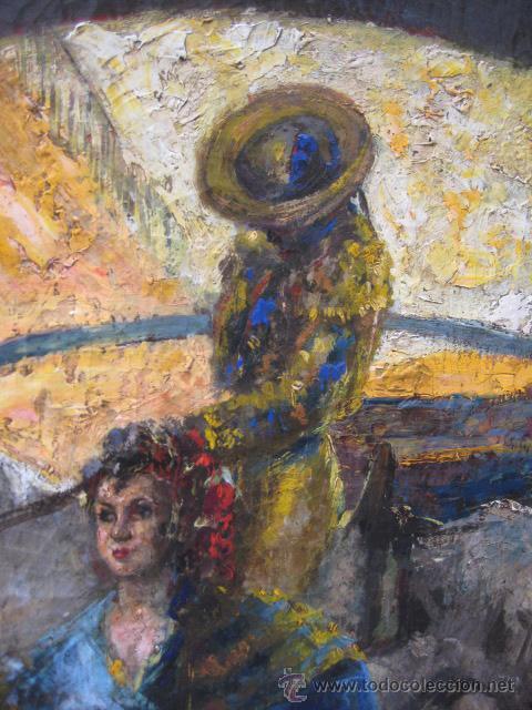 Arte: Tema taurino. Oleo sobre lienzo finales del siglo XIX . Anonimo - Foto 20 - 29270266