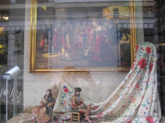 Arte: Tema taurino. Oleo sobre lienzo finales del siglo XIX . Anonimo - Foto 23 - 29270266