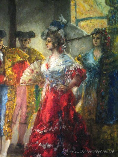 Arte: Tema taurino. Oleo sobre lienzo finales del siglo XIX . Anonimo - Foto 10 - 29270266