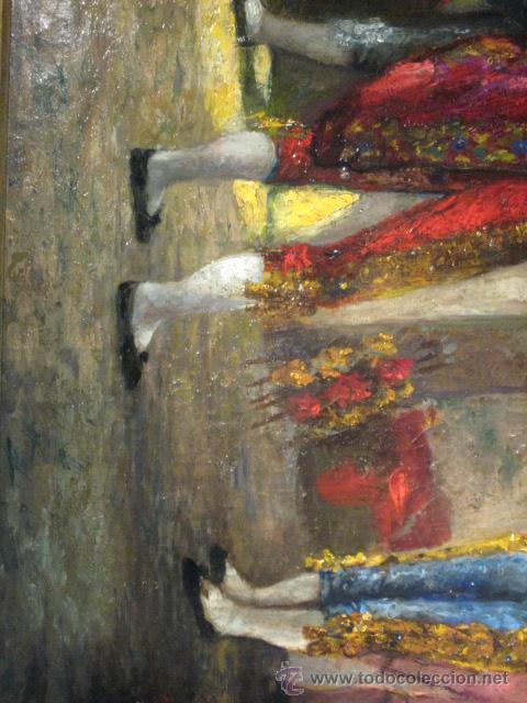 Arte: Tema taurino. Oleo sobre lienzo finales del siglo XIX . Anonimo - Foto 11 - 29270266
