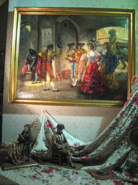 Arte: Tema taurino. Oleo sobre lienzo finales del siglo XIX . Anonimo - Foto 22 - 29270266