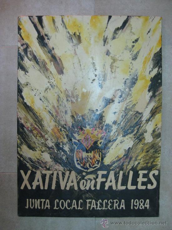 XATIVA, JATIVA (VALENCIA) EN FALLES - JUNTO LOCAL FALLERA - 1984 (Arte - Pintura - Pintura al Óleo Contemporánea )