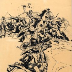 Arte: RAMÓN DE LA FUENTE-BATALLA-PASPARTU - 37X51 CARPETA AMRILLA ART COMIC. Lote 30144633