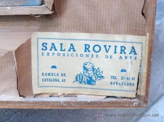 Arte: Albert Mallofré, retrato de gitana. Óleo sobre tabla. 59x73 cm. Marco: 76x90 cm. - Foto 5 - 57255078