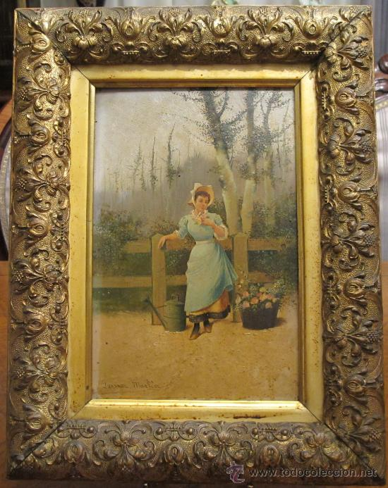 CUADRO PINTURA OLEO SOBRE TABLA - GOMEZ MARTIN 1898 (Arte - Pintura - Pintura al Óleo Moderna siglo XIX)
