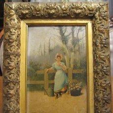 Arte: CUADRO PINTURA OLEO SOBRE TABLA - GOMEZ MARTIN 1898. Lote 30295247