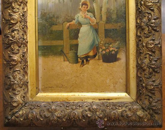 Arte: CUADRO PINTURA OLEO SOBRE TABLA - GOMEZ MARTIN 1898 - Foto 2 - 30295247