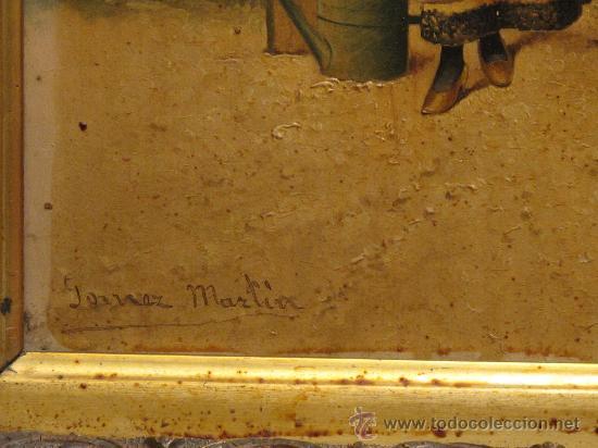 Arte: CUADRO PINTURA OLEO SOBRE TABLA - GOMEZ MARTIN 1898 - Foto 3 - 30295247