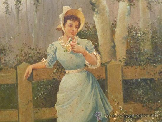 Arte: CUADRO PINTURA OLEO SOBRE TABLA - GOMEZ MARTIN 1898 - Foto 4 - 30295247