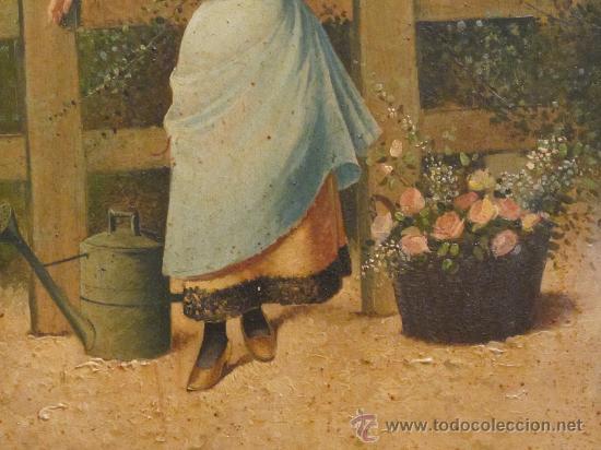 Arte: CUADRO PINTURA OLEO SOBRE TABLA - GOMEZ MARTIN 1898 - Foto 5 - 30295247