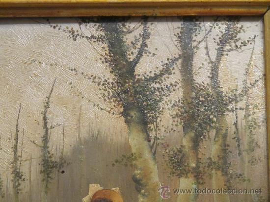 Arte: CUADRO PINTURA OLEO SOBRE TABLA - GOMEZ MARTIN 1898 - Foto 6 - 30295247