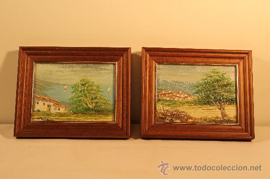 Dos Cuadros Oleos Pequenos Paisajes Comprar Pintura Al Oleo - Cuadros-pequeos