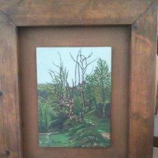 Arte: OLEO SOBRE TABLA BOSQUE. Lote 30354407