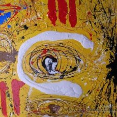 Arte: PINTURA ABSTRACTA BARATA. CONTEMPORÁNEO. ARTE BARATO. LIENZO. ORIGINAL. CUADRO. V.GUILLÉ. OCASIÓN. Lote 30362815