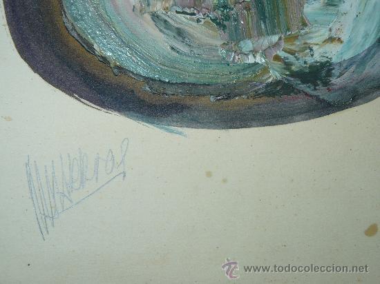 Arte: OLEO/CARTULINA -FDO NAVARRO-COMPOSICIÓN - Foto 3 - 30372709