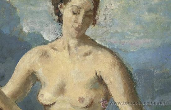 Arte: Colección de Elizabeth Taylor : Augustus Edwin John, O.M., R.A. Desnudo catalogado y firmado - Foto 2 - 30408406