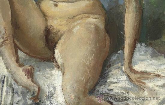 Arte: Colección de Elizabeth Taylor : Augustus Edwin John, O.M., R.A. Desnudo catalogado y firmado - Foto 3 - 30408406