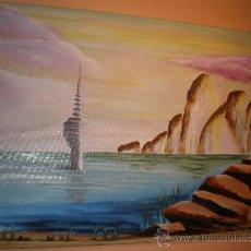 Arte: OLEO SOBRE LIENZO 73 X 54 CMS, !!!!!!!!!!!!!!!DESASTRE MUNDIAL. Lote 30511989