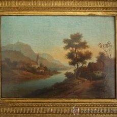 Arte: MAGISTRAL PAISAJE DE MEDIADOS DEL SIGLO XVIII, EXCELENTE CALIDAD, GRAN DETALLISMO, . Lote 30676302