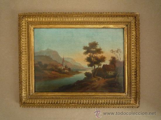 Arte: Magistral paisaje de mediados del siglo XVIII, excelente calidad, gran detallismo, - Foto 4 - 30676302