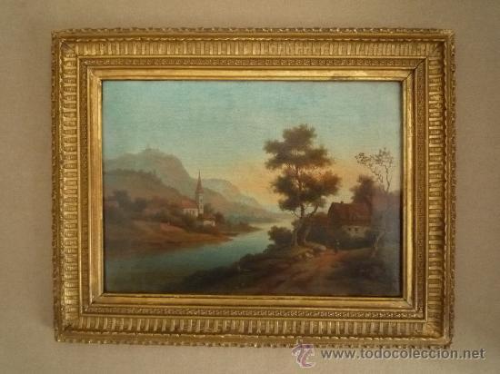 Arte: Magistral paisaje de mediados del siglo XVIII, excelente calidad, gran detallismo, - Foto 3 - 30676302