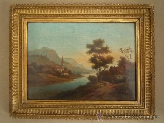 Arte: Magistral paisaje de mediados del siglo XVIII, excelente calidad, gran detallismo, - Foto 2 - 30676302