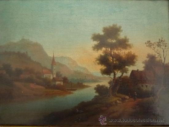 Arte: Magistral paisaje de mediados del siglo XVIII, excelente calidad, gran detallismo, - Foto 9 - 30676302