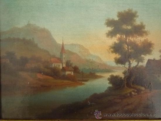 Arte: Magistral paisaje de mediados del siglo XVIII, excelente calidad, gran detallismo, - Foto 7 - 30676302