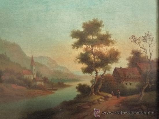 Arte: Magistral paisaje de mediados del siglo XVIII, excelente calidad, gran detallismo, - Foto 8 - 30676302