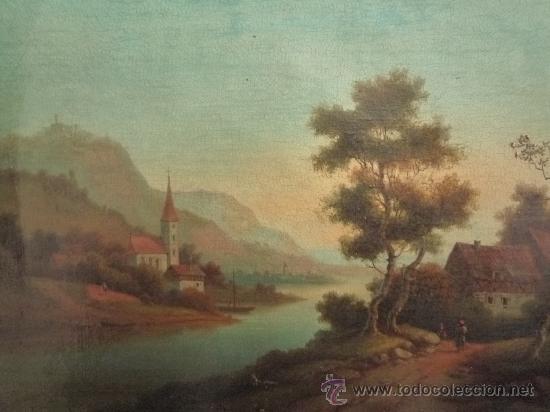 Arte: Magistral paisaje de mediados del siglo XVIII, excelente calidad, gran detallismo, - Foto 6 - 30676302