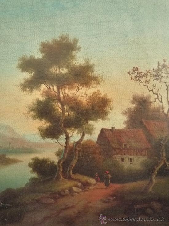 Arte: Magistral paisaje de mediados del siglo XVIII, excelente calidad, gran detallismo, - Foto 11 - 30676302