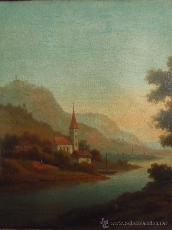 Arte: Magistral paisaje de mediados del siglo XVIII, excelente calidad, gran detallismo, - Foto 10 - 30676302
