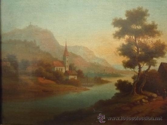 Arte: Magistral paisaje de mediados del siglo XVIII, excelente calidad, gran detallismo, - Foto 5 - 30676302