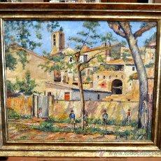 Arte: CASIMIRO BOADA MATAS (PALAMÓS, GERONA, 1888 - ?) OLEO SOBRE TELA.PAISAJE PALAMÓS. Lote 30692761