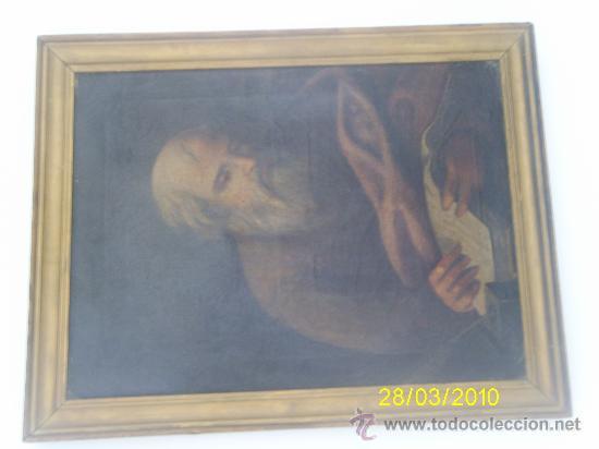 ÓLEO SOBRE LIENZO, EVANGELISTA (Arte - Pintura - Pintura al Óleo Antigua siglo XVIII)