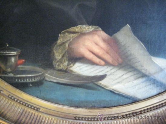 Arte: Impresionante retrato de caballero,( abate?) frances S. XVIII finales, Oleo sobre lienzo - Foto 6 - 30735016